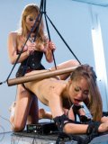 Riley Reid is put in rough bondage and her mistress Lea Lexis is plowing her big time