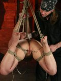 Master in bandanna knows how to punish his well-stacked slave Sarah Blake