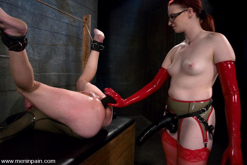 Hot girl strapon naked pain
