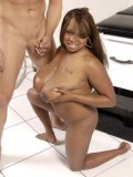 Chubby big titted black patient Simone Staxx gets slam fucked by white doctor