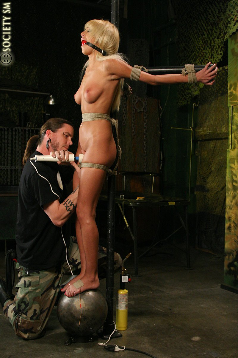 Amateur slave tied o a chair and used - 2 9