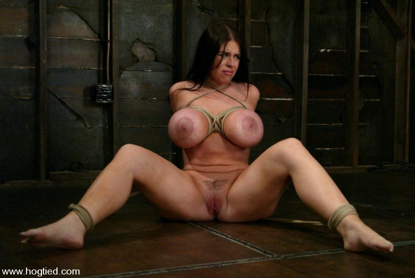Busty sex slave tied dominated and get ass fucked 5