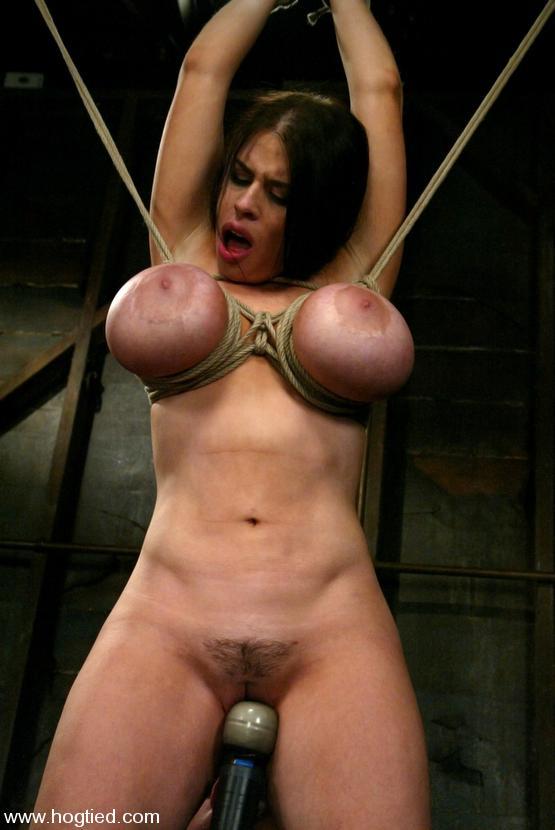 Bondage tied tits