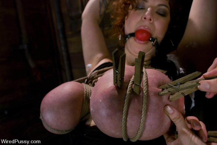 Big tits punished