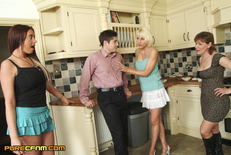 Bdsm cfnm in the kitchen