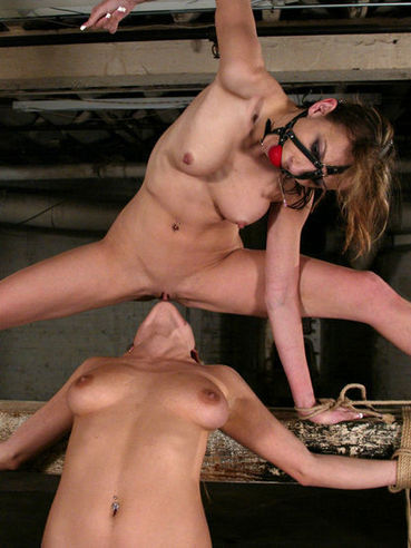 Bondage girls Tiffany Holiday and Harmony Rose get tortured and show lesbian tricks