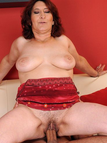 Hairy mature whore Ildi sucks and rides pretty thick rock stiff dick like crazy
