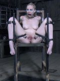 Delirious Hunter gets spider gagged and has her cunt spread open during sex toys & insertions.