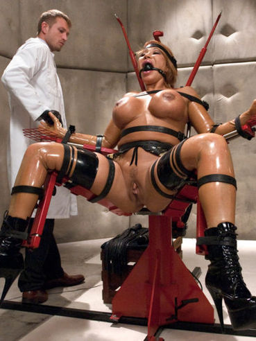 The big breasted hottie Ava Devine in metal bondage tasting hardcore, rough sex.