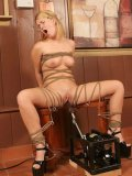 It's the real pleasure for this hot Sasha Knox to sit bound on the fuck machine.