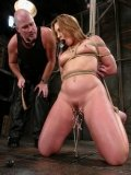 Rope bound Flower Tucci gets ferociously fucked by Mark Davis after pussy torture