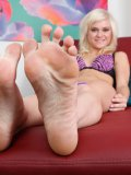 Chloe Foster is a stunning blonde solo darling who has amazing legs and feet.