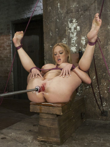Kinky and blonde Darling finds herself strapped and tied during bondage and dildo teasing.