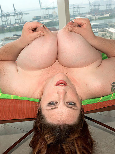 Plumper Alice Webb Boobs - Chunky lady Alice Webb plays with her monster tits on the ...