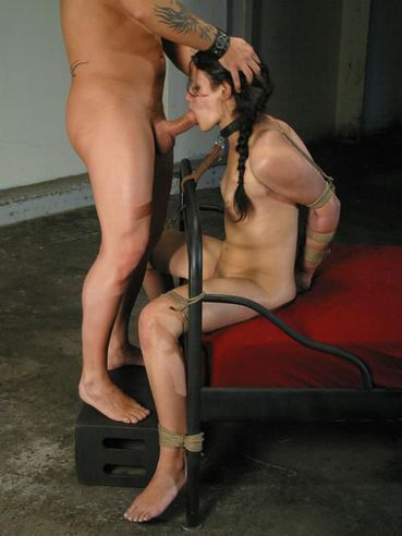 Helpless bound Penney Play gets her asshole filled with dick after tit torture