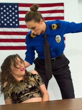 Kristina Rose gets her slit used up by a kinky red haired Chanel Presto in a hot police uniform.