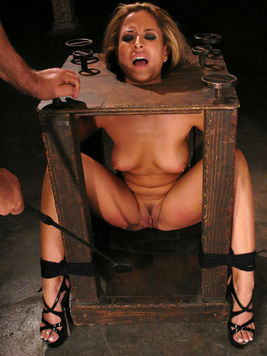 Bound latina August gets her meaty pussy flogged and banged by Ben English