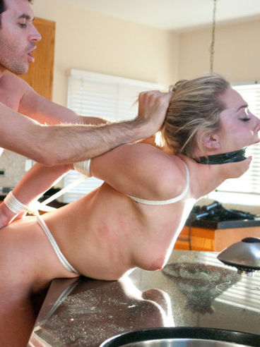 Horny James Deen ties up the sexy Bailey Blue, pulls her hard nipples and breeds her wet cunt.