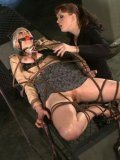 Tied slave blonde Lorelei Lee gets her sexy ass and pussy punished hard by Julie Simone