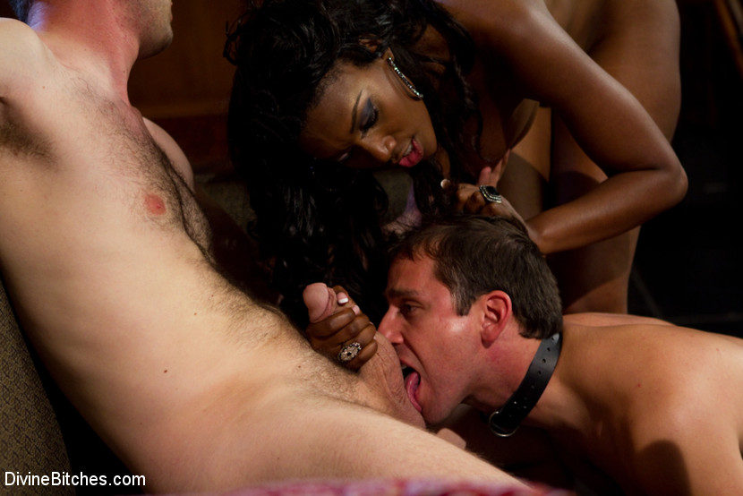 nyomi banxxx enjoys a hot threesome with a tied up twink