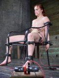 Bella Rossi and her bondage loving friend Rain DeGrey blindfolded and getting stimulated in cages.