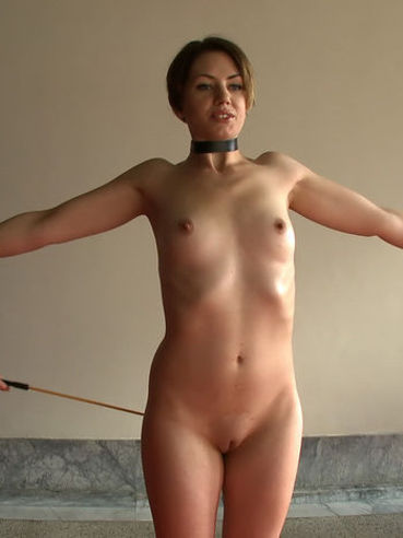 Naked obedient Sarah Shevon gets seriously punished by well dressed men
