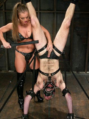 Big titty domina Rita Faltoyano makes slave Ed Stone cum and fucks his helpless ass