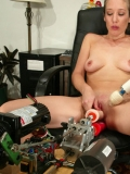 One vibrator and two robotic dildos are the maximum Jade Marxxx can take at once.