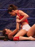 Susanna White and Valentina Chevallier get nude and show their naughty bits in the ring
