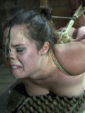 Master and mistress love playing with helpless holes of tied up Charlotte Vale