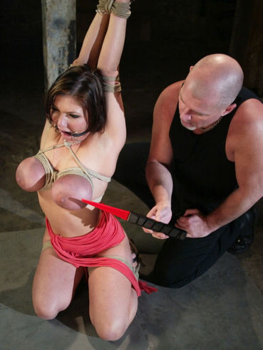 Master Mark Davis has fun with Claire Dames' big tits and shaved pussy before candle wax torture