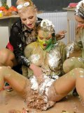 Tatiana Milovani, Mila Dark and Alexa Bold turn painting lesson into mess