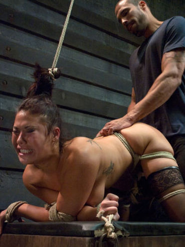 Sexy Asian babe London Keyes gets nailed wildly by a huge tattooed hunk with a fat hard dick.