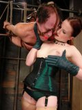 Delicious dommes Claire Adams and Beverly Hills having fun with helpless Anthony