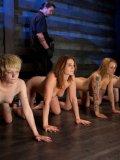 Slaves Jessie Coxxx, Annika Amour, CiCi Rhodes and Alani Pi love bondage.