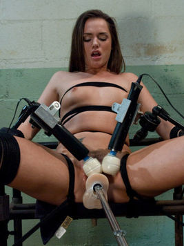 Small titty hottie Tori Black gets her pussy pleased by power dildo and two vibrators
