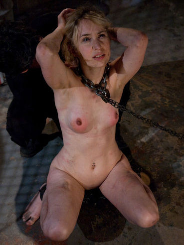 Cute faced blonde sex slave Calico Slave gets her cunt toyed and fucked by Maestro