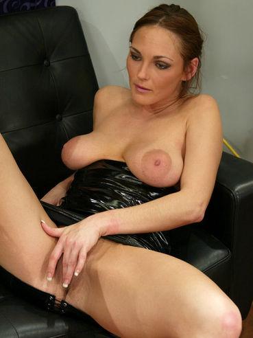 Big breasted domina Venus fucks her slave Rider with red strap-on dildo