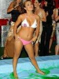 Wet party chicks Tatiana Milovani, Victoria Rose, Sharka Blue and Christina Lee wrestle naked