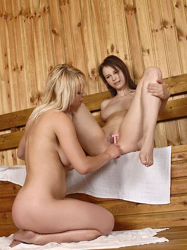 Fetish lesbian action with Beata Undine and Lily Lake in the sauna is amazing.