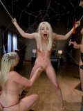 Lorelei Lee and Maitresse Madeline have fun punishing cute blonde Ashley Jane