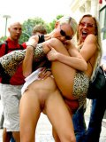 Nasty Grace Cat and her horny friends love dirty sex action in public places
