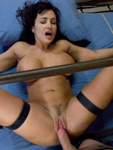 Middle aged Lisa Ann takes James Deen's big hard cock after he ties her up