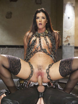 India Summer is skull fucked and hardcore rammed in multiple poses while tied and in rough sex.