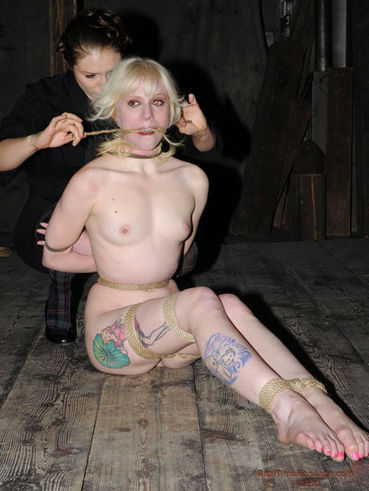 Naked helpless slave blonde Sarah Jane Ceylon with some junk in the trunk gets spanked