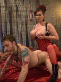 Bondage lover Mz Berlin gets her hands on a hunk who breaks in her hands during kinky stimulation.