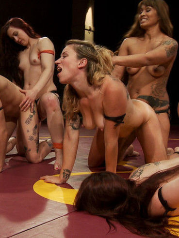 Cheyenne Jewel and her good looking fetish babes on the floor stimulated in cat fights.