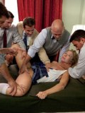 Cute blonde student Chastity Lynn gets her naughty mouth full of hot warm sperm and she loves it