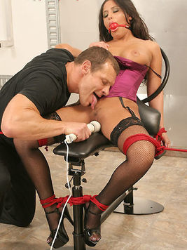 Filthy guy adores humiliating his luxurious big titted slave Jenaveve Jolie.
