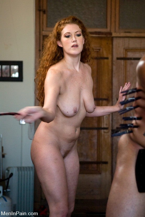 Hot redhead femdom playing with a guy039s dick 10